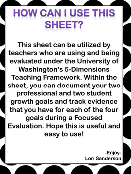 Focused Evaluation Planning Sheet
