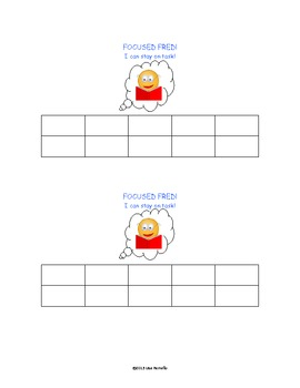 Focused Fred Behavior Chart (Freebie)