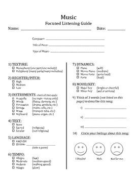 Focused Listening Guide