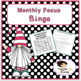 Focused Monthly Bingo: A Motivational Growth Mindset Game
