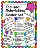 Focused Note-taking Strategy Poster Set