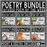 Poem of the Week: Poetry Unit Reading Comprehension Passag