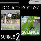 Focused Poetry 3rd Grade BUNDLE: Hobbies & Science