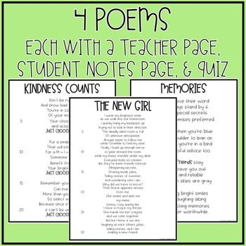 Focused Poetry 4th Grade: Building Character