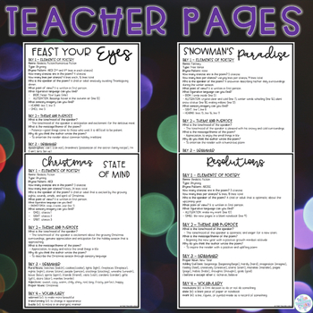 Focused Poetry 4th Grade: Holiday
