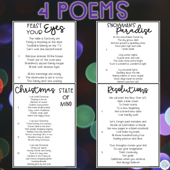 Focused Poetry 5th Grade: Holiday