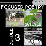 Focused Poetry 4th Grade BUNDLE: Hobbies, Science, Social Media