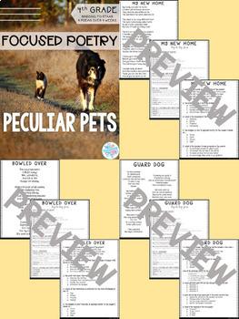 Focused Poetry 4th Grade BUNDLE: Hobbies, Science, Social Media, & Peculiar Pets
