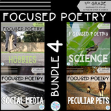 Focused Poetry 4th Grade BUNDLE: Hobbies, Science, Social Media, & Peculiar Pets