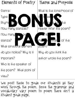 Focused Poetry 4th Grade: Social Media