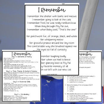 Focused Poetry 4th Grade: Back-to-School