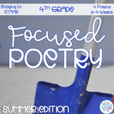 Focused Poetry 4th Grade: Summer