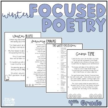 Focused Poetry 4th Grade: Winter Edition