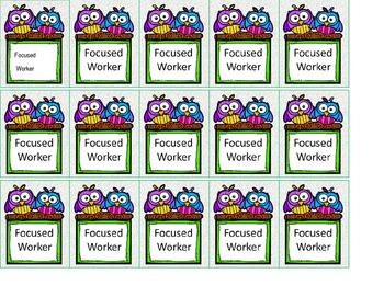 Focused Worker Brag Tag