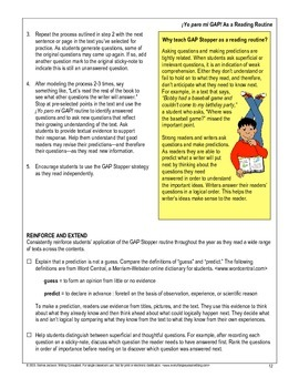 Focused Writing - Be a GAP Stopper! (Spanish)