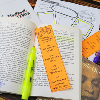 Close Reading & Annotating Lesson, Complete Teaching Pack, Traditional & Digital