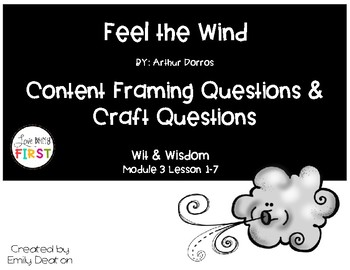 Focusing Questions for Feel the Wind with Wit and Wisdom
