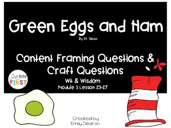 Focusing Questions for Green Eggs and Ham with Wit and Wisdom