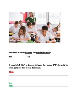 Focusing and Paying Attention Examples/NonExamples Packet