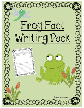 Frog Fact Writing Pack