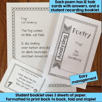 poetry task cards fog by carl sandburg poetry analysis by mrs renz class. Black Bedroom Furniture Sets. Home Design Ideas