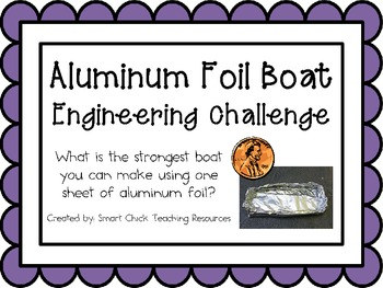 Foil Boats: Engineering Challenge Project ~ Great STEM Activity!