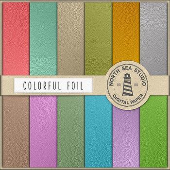 Foil Digital Paper Pack, Elegant Foil Backgrounds