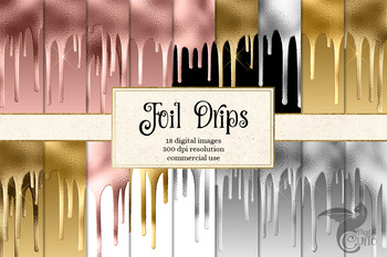 Foil Drips Digital Paper