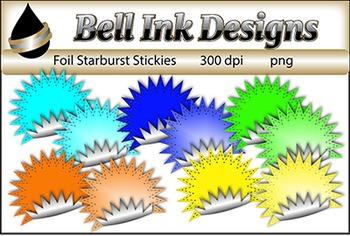 Foil Starburst Stickies Clipart