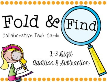 2-3 Digit Addition & Subtraction Task Cards