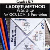 Fold It Up - Ladder Method for GCF, LCM, and Factoring!