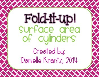 Surface Area of Cylinders Foldable Notes