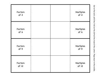 Fold It!...Factors & Multiples