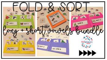 Fold & Sort: Long and Short Vowels Bundle