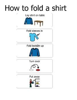 Fold a Shirt steps