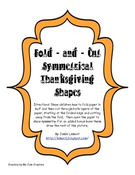 Fold and Cut Symmetrical Thanksgiving Shapes