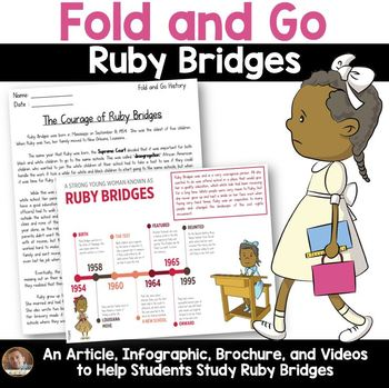 Fold and Go Biography: Ruby Bridges Activity for Grades 3-5