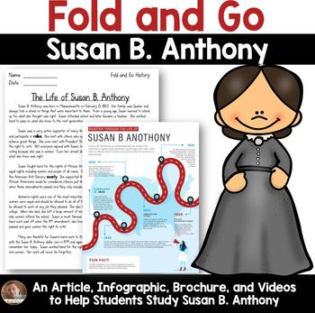 Fold and Go Biography: Susan B. Anthony- Women's Rights Activity for Grades 3-5
