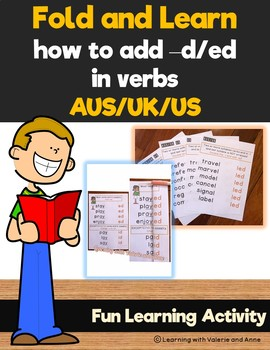 Fold and Learn How to Add d/ed in verbs rules AUS/UK/US
