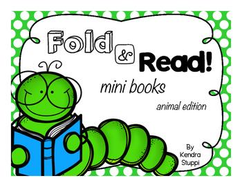 Fold and Read Mini Books - Animal Edition