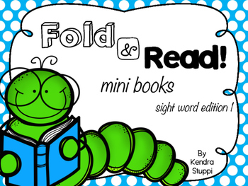 Fold and Read Mini Books - Sight Words Set 1
