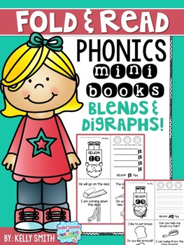 Phonics Reading Books- Blends and Digraphs (Fold & Read)