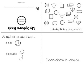 Fold and Read mini books {3D Shapes}
