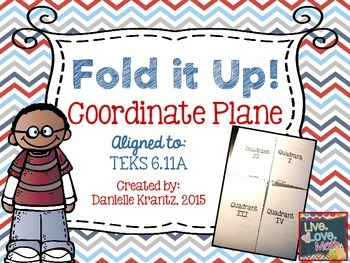 Coordinate Plane Foldable Notes