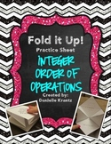Integer Order of Operations Foldable Practice