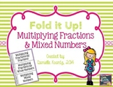 Multiplying Fractions Foldable Notes
