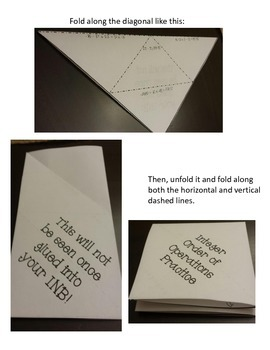 Order of Operations Foldable Practice