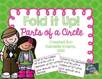 Parts of a Circle Foldable Notes