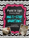Multi-Step Equations Foldable Practice