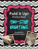 Two Step Equations Foldable Practice